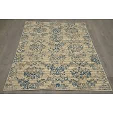 b304 ivory and blue antique rug 8x10 ft at home at home