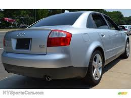 audi a4 2004 silver 2004 audi a4 1 8t quattro sedan in light silver metallic photo 5