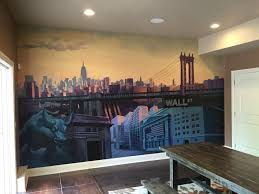 mural nyc new york city skyline mouroflage