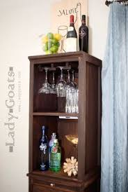 Diy Mini Bar Cabinet I Needed A Bar Unit To Hold Some Stemware Liquor And Wine While