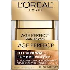 l u0027oreal paris age perfect cell renewal night cream moisturizer