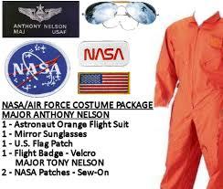 Halloween Astronaut Costume Usaf Nasa Astronaut Costume Major Nelson Orange