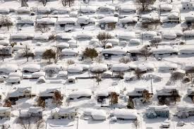 amazing aerial photos of aftermath of snow in