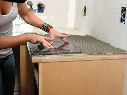Tiled Kitchen Table by How To Install A Granite Tile Kitchen Countertop How Tos Diy