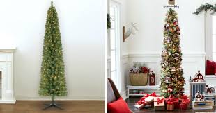 pre lit 7 foot pencil artificial tree only 39 99