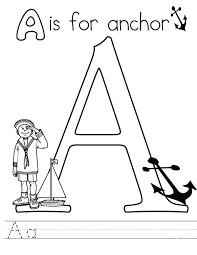 Coloring Page Of A Anchor Coloring Page Letter A Coloring Pages A For Anchor Chevron by Coloring Page Of A
