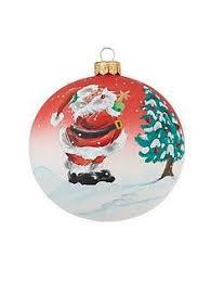 beautiful globe santa dagmara glass ornament