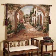 tapestry home decor quaint town tapestry tapestry tuscan style decorating and iron