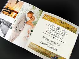 printing wedding programs about printing wedding booklets invitations programs