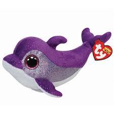 ty flips purple dolphin beanie boos stuffed plush toy