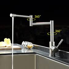 kitchen faucet extension 304 stainless steel lead free folding kitchen faucet rotating