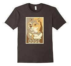 com doge poster wow funny shiba inu meme t shirt clothing