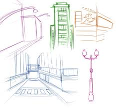 make an establishing shot using the perspective grid tool in adobe