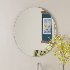 Frames For Bathroom Mirrors Lowes Shop Decor 23 6 In X 23 6 In Frameless Bathroom