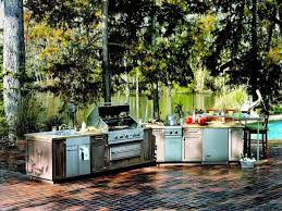 kitchen gorgeous patio with metal cabinet also stove as best