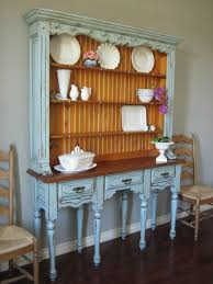 european paint finishes farmhouse blue gray hutch