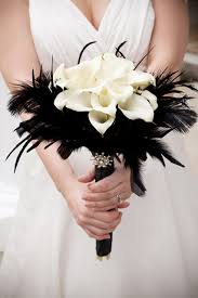 chagne satin ribbon calla lilies just change the feathers and satin ribbon to your