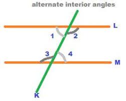 Alternate Corresponding And Interior Angles Alternate Interior Angles