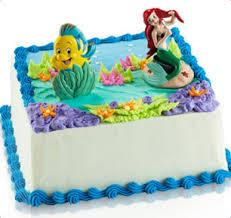 baskin robbins disney princess little mermaid and flounder cake