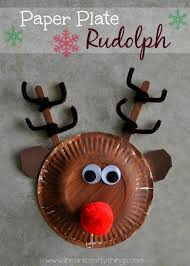 paper plate rudolph reindeer reindeer craft craft and holidays