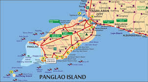 alona resort map map of bohol detailed a4