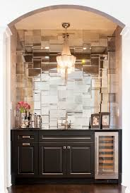 Mirrored Kitchen Backsplash Mirror Tile Backsplash Kitchen Kitchen Decoration Ideas