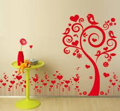 sticker mural chambre fille stickers arbre turquoise vert anisle gris hibou oiseaux decoration