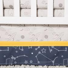 trend lab crib bedding set galaxy navy target