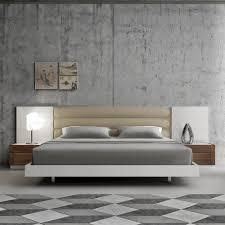 European King Bedroom Sets Amazon Com J U0026m Furniture Lisbon White Lacquer U0026 Walnut Wood