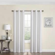eclipse blackout microfiber 84 in l white grommet curtain