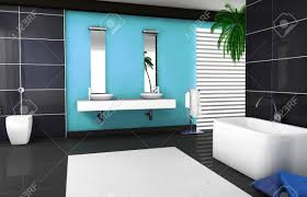 Blue Granite Floor Tiles by Interior Design Of A Modern And Contemporary Bathroom With Granite