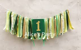 Forest High Chair New Jungle Forest Theme 1st Birthday Garland High Chair Banner