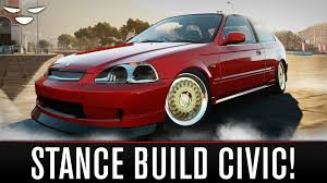 stanced honda forza horizon 2 stanced honda civic build how to make a stance
