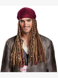 sparrow hair potc5 sparrow bandana w dreads wholesale