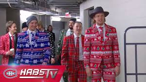 christmas suits habs wear christmas suits in edmonton