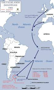 Condor Airlines Route Map by Falklands War Wikipedia