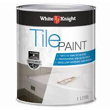 Painting Bathroom Tile by White Knight 1l Neutral Tile Paint Bunnings Warehouse