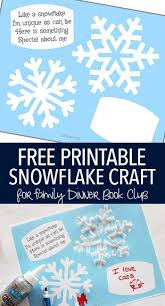snowflake bentley free printable snowflake craft for family dinner book club