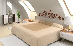 lit chambre adulte stickers tête de lit florale