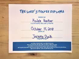 the lord u0027s prayer diploma u2013 children u0027s ministry deals