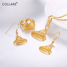 jewellery ring necklace images Collare bilum bag jewelry sets women png traditional gift gold jpg