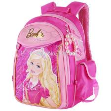 barbie cartoon students primary bag books girls