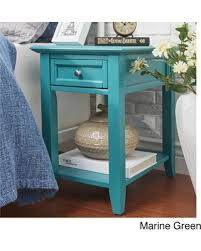 great deal on zayden 1 drawer side table with charging station by