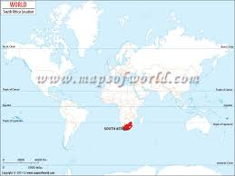 map world africa where is south africa location of south africa