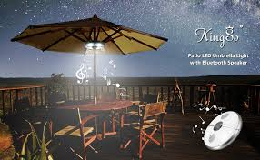 outdoor lights with bluetooth speakers patio led umbrella light with bluetooth speaker kingso rechargeable