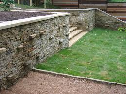 block retaining wall cost garden design