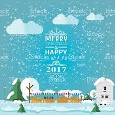 happy new year invitation invitation card merry christmas and happy new year 2017 stock
