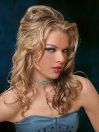 elegant hairstyles bump curly half updo thumb jpg
