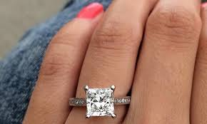 plain engagement ring with diamond wedding band 5 square engagement rings to adore ritani