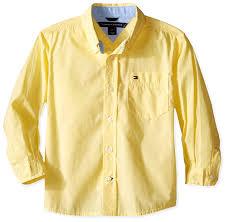 amazon com tommy hilfiger boys u0027 classic long sleeve woven shirt